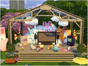 Детский парк «Кролик» от lotsbymanal для Sims 4