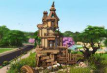 Жилой дом «Избушка» от VirtualFairytales для Sims 4