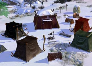 Палатки разных эпох от Sim Tailor для Sims 4