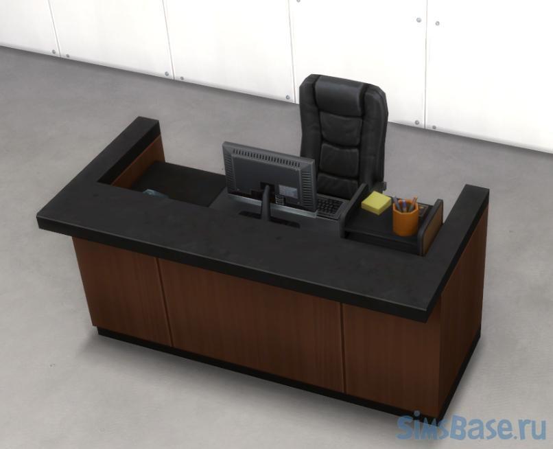Мод «Персонал за стойками регистрации» от lemonshushu для Sims 4