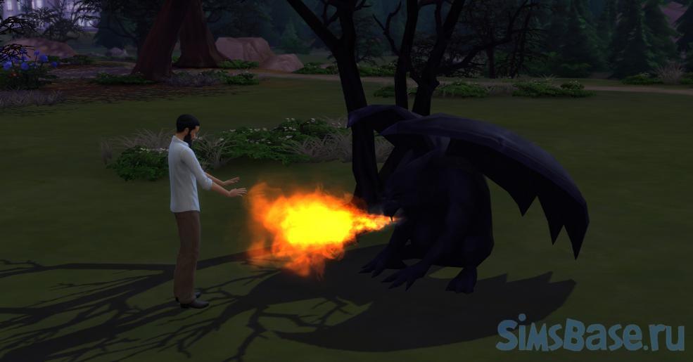 Мод «Необычная статуя огнедышащей горгульи» от Bakie для Sims 4