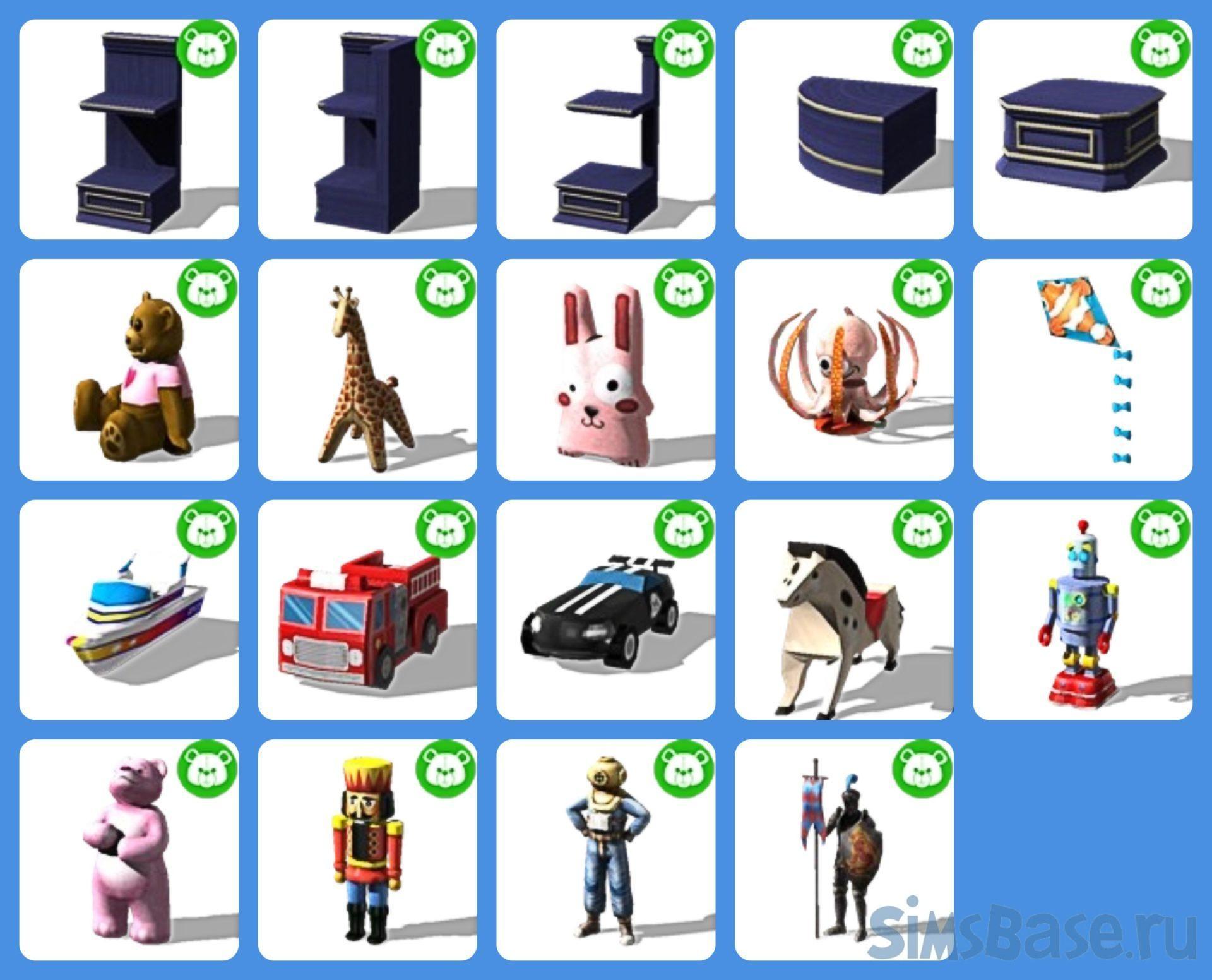Набор предметов «Счастливый магазин игрушек» от simsi45 для Sims 4
