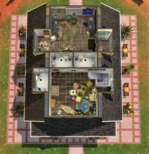Библиотека Стрейнджервиля от spaceytheace для Sims 4