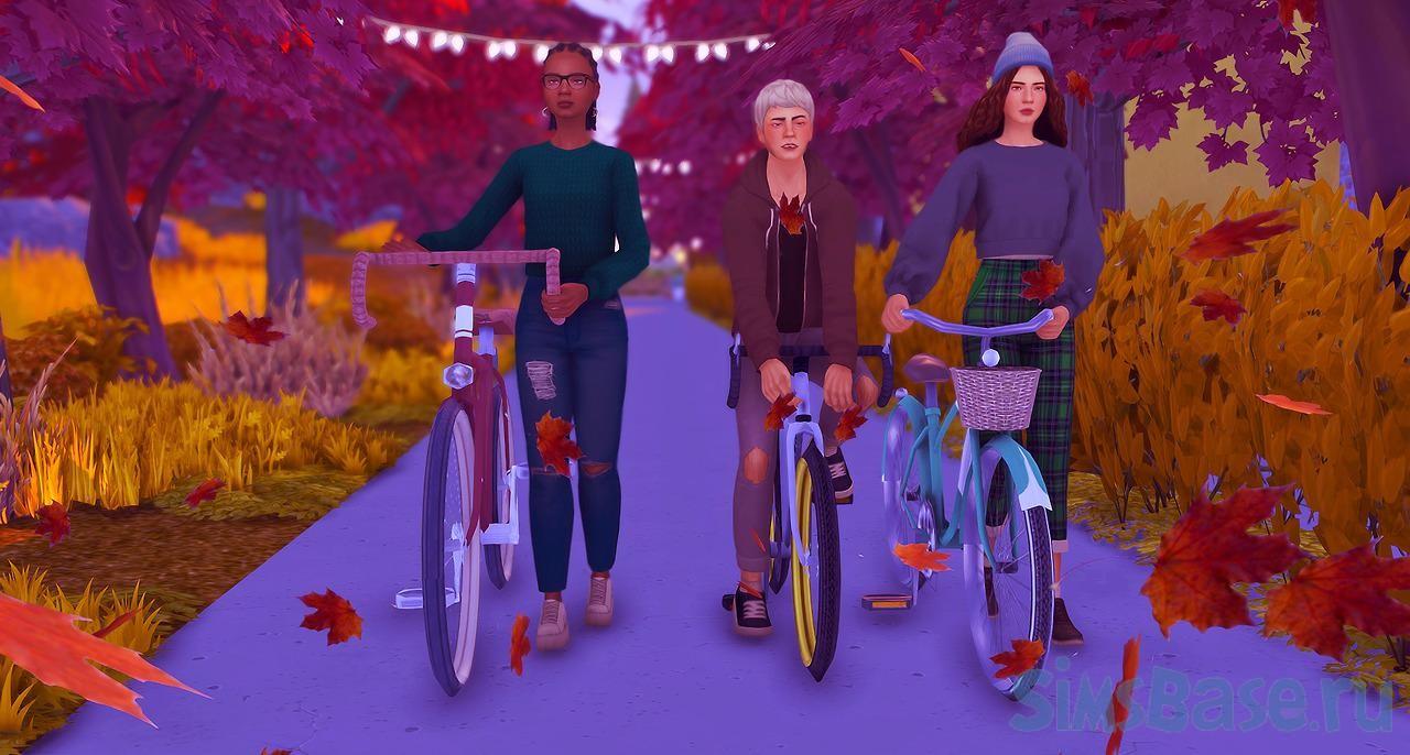 Мод «Меньшее количество езды на велосипеде» от Zero для Sims 4