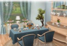 Набор декора «Чаепитие» от SIMcredible для Sims 4