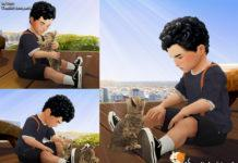 Набор поз «Малыш и котенок» от Beto_ae0 для Sims 4