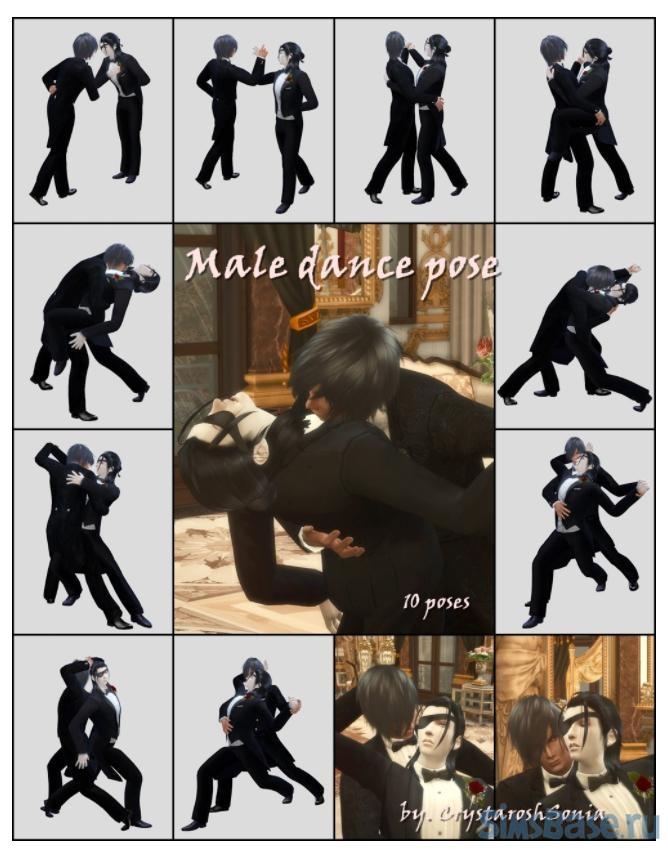 Набор поз «Мы будем танцевать» от crystaroshsonia для Sims 4