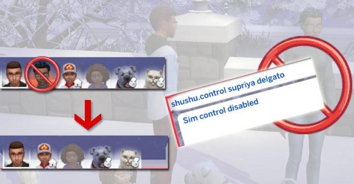 Мод «Выбор управляемого сима» от lemonshushu для Sims 4