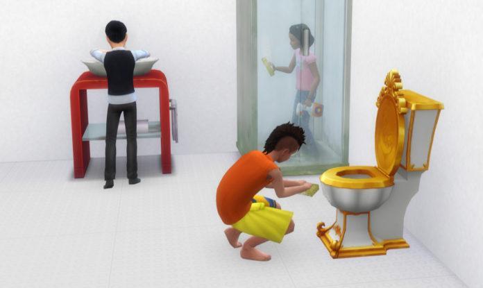 Мод «Уборка для детей» от Ferdiana для Sims 4