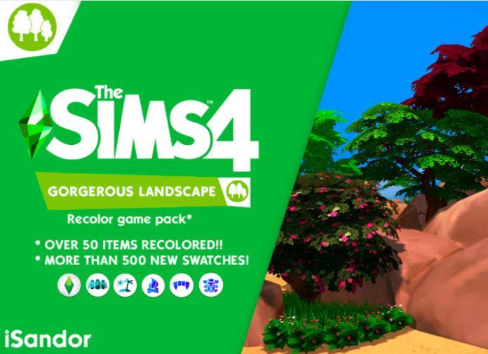 Набор растений «Великолепный пейзаж» от iSandor для Sims 4