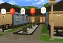 Японский ресторан от WynterSoldier для Sims 4