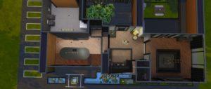 Жилой дом в японском стиле от lovethatcolor для Sims 4