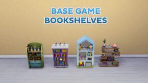 Мод «Улучшение книжных шкафов EA» от simsi45 для Sims 4