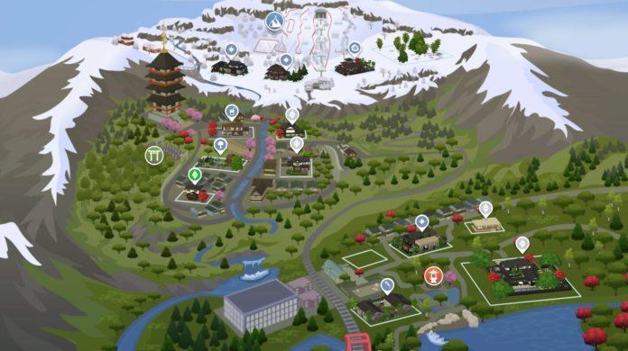 Мод «Исправление участков Горы Комореби» от gettp для Sims 4