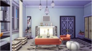 Квартира «Гламур» Калпеппер Хаус 18 от vicarious-sims для Sims 4