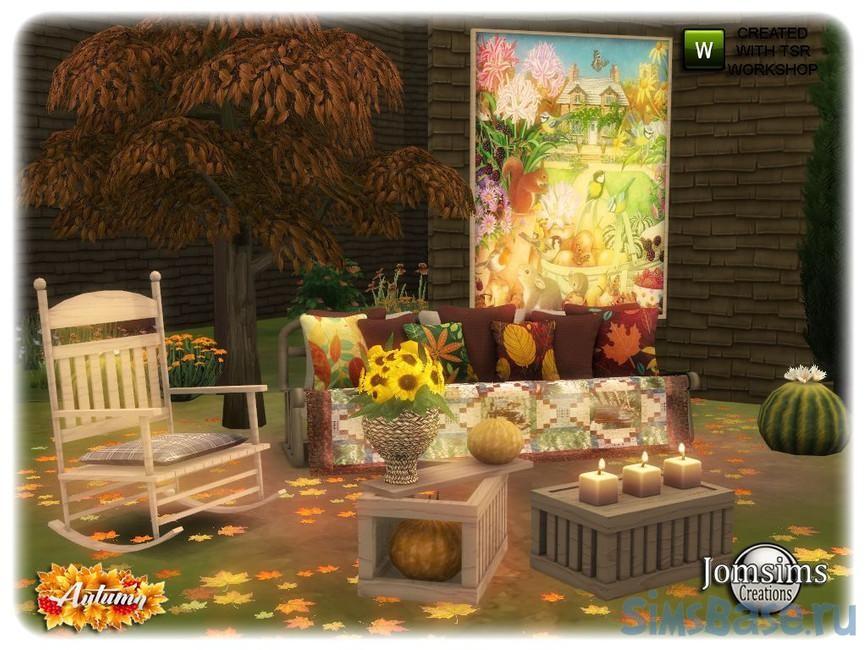 Набор мебели «Сад» от jomsims для Sims 4