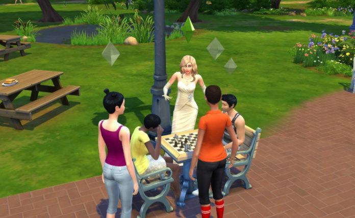 Мод «Шахматы на РС и планшете» от ravasheen для Sims 4