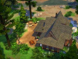 Жилой домик «Избушка» от Hallgerd для Sims 4
