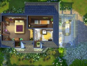 Жилой дом Дейзи Ховел от Hallgerd для Sims 4