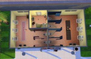 Винтажный общественный бассейн от SimRedas для Sims 4