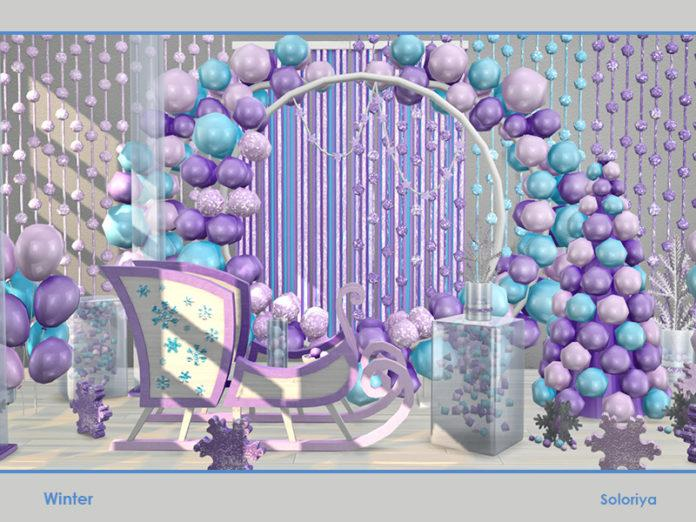Набор декора «Зима на пороге» от soloriya для Sims 4