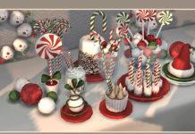 Набор Новогоднего декора от soloriya для Sims 4