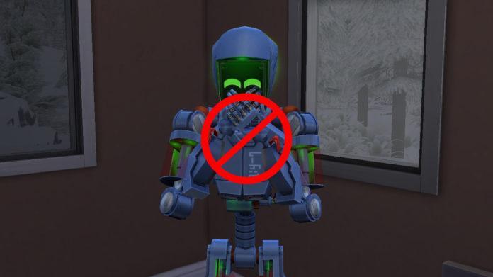 Мод «Сервороботы без потребностей» от Agent87 для Sims 4