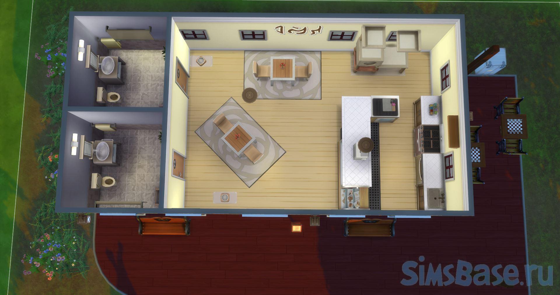 Кафе с детской площадкой от CatMuto для Sims 4