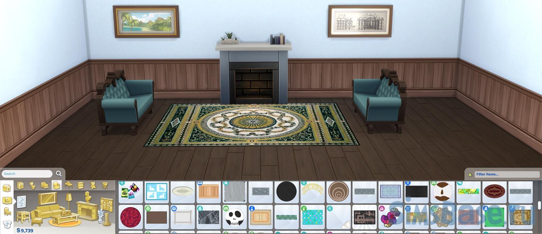 Набор элегантных ковриков Обюссон от Wicked Old Witch для Sims 4