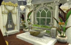 Замок в горах над водопадом от alexiasi для Sims 4