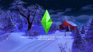 Загрузочные экраны «Зима» от Caradriel для Sims 4