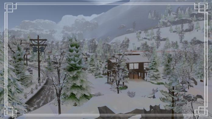 Максимальное использование режима строительства в Sims 4 Снежные просторы – Кафе
