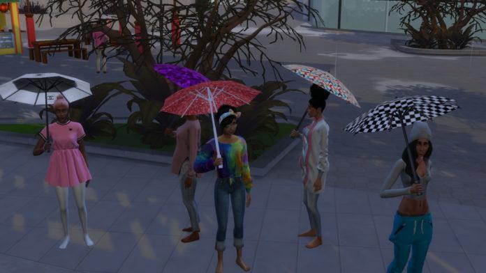 Мод «Настройка зонтика» от Zero для Sims 4