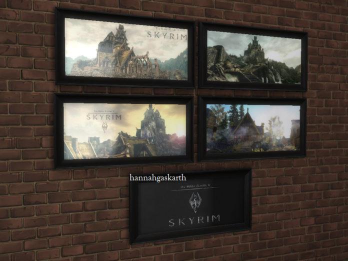 Пейзажи Скайрима от hannahgaskarth для Sims 4