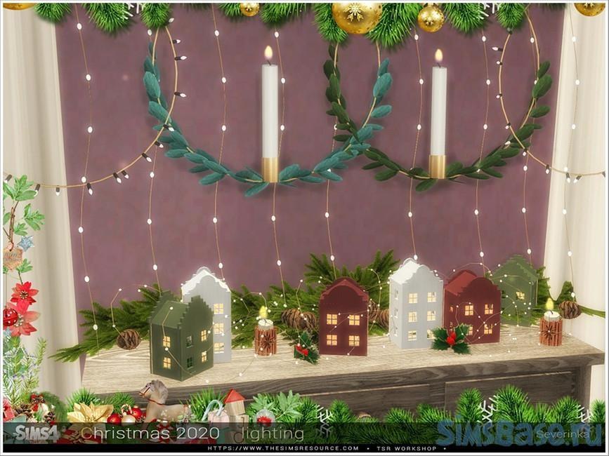 Новогоднее освещение от Severinka для Sims 4