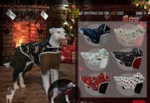 Новогоднее одеяние для собак DanSimsFantasy для Sims 4
