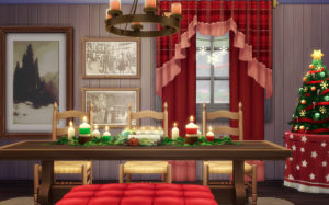Площадь зимнего праздника от llamabuilds для Sims 4