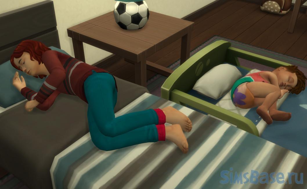 Мод «Без обуви на кровати» от ShuSanR для Sims 4