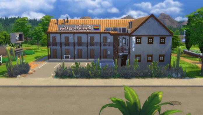 Мотель «Вуху» от Keallow_075 для Sims 4