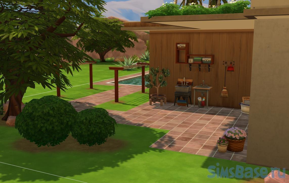 Жилой дом «Рай в пустыне» от iSandor для Sims 4