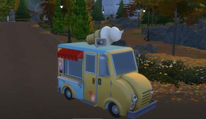 Мод «Грузовичок с мороженным» от Ferdiana для Sims 4
