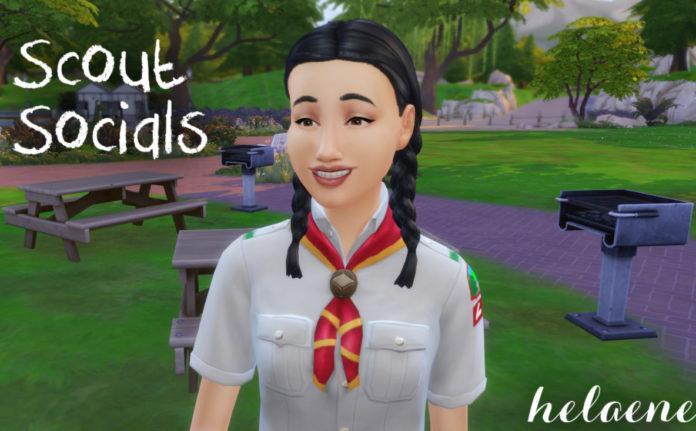 Мод «Новые взаимодействия для скаутов» от helaene для Sims 4
