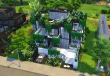 Жилой дом «Белое и черное» от alexiasi для Sims 4