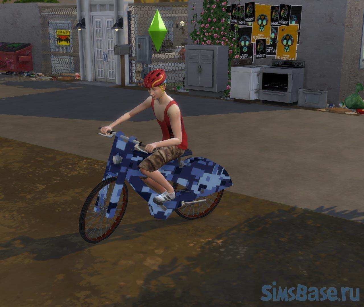 Мод «Без шлема» от endermbind для Sims 4