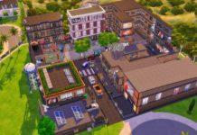 Общественный участок «Квартал Белем» от tsukasa31 для Sims 4