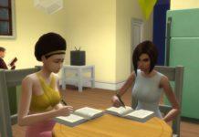 Мод «Подростки и дети помогают с домашним заданием» от Eunola для Sims 4