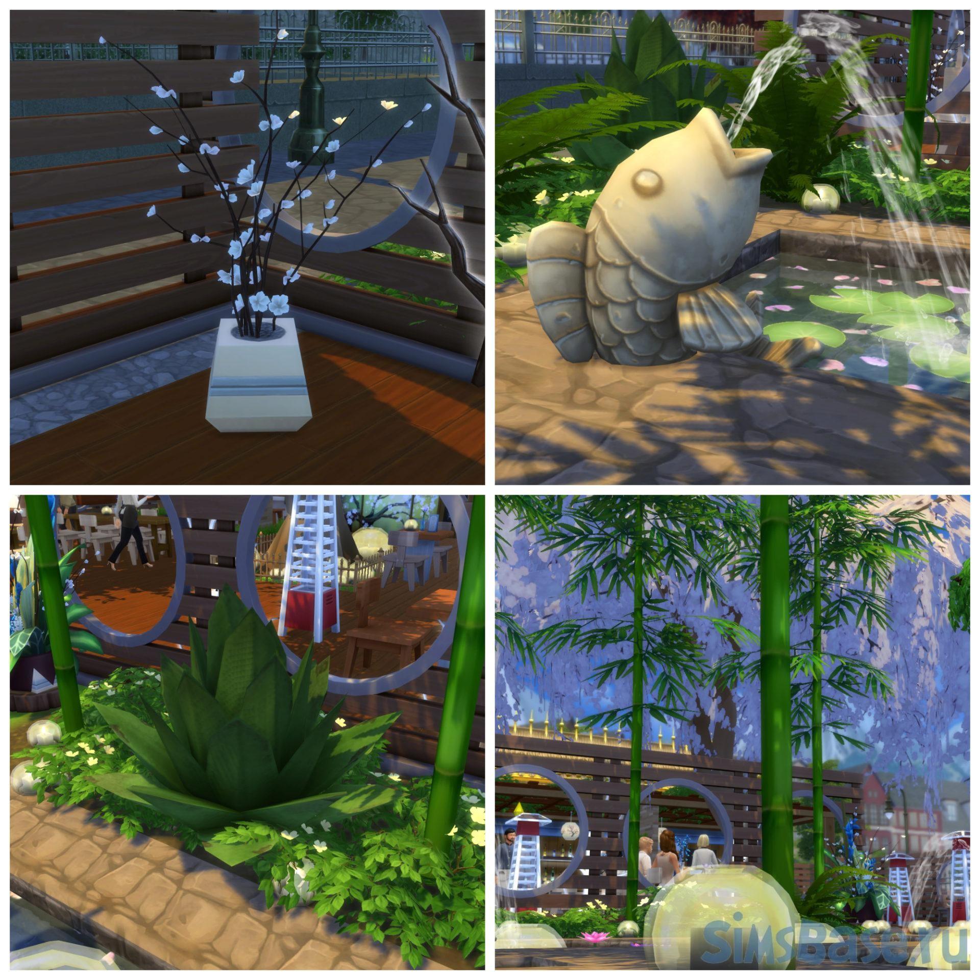 Строительство и идеи в азиатском стиле Sims 4