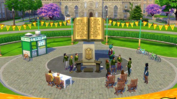 Мод «Уведомление для событий В университете» от Zero для Sims 4
