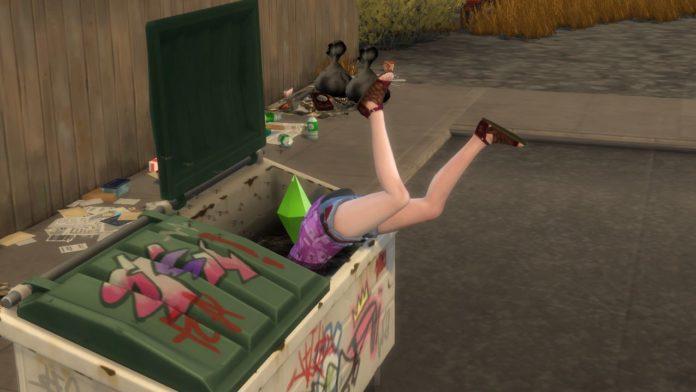 Мод «Регулировка взаимодействий с мусорным контейнером» от Shushu для Sims 4