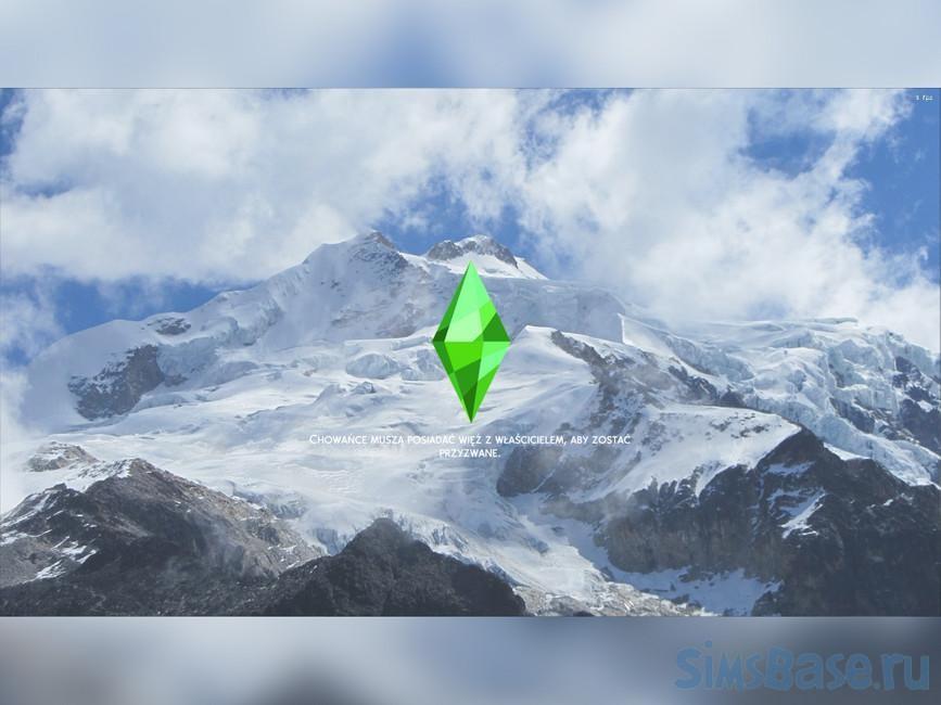 Загрузочные экраны «Заснеженные красоты» от Lil@k для Sims 4